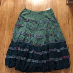 Dresses & Skirts - NWT Boho Green Skirt 100 % Cotton Size 20W